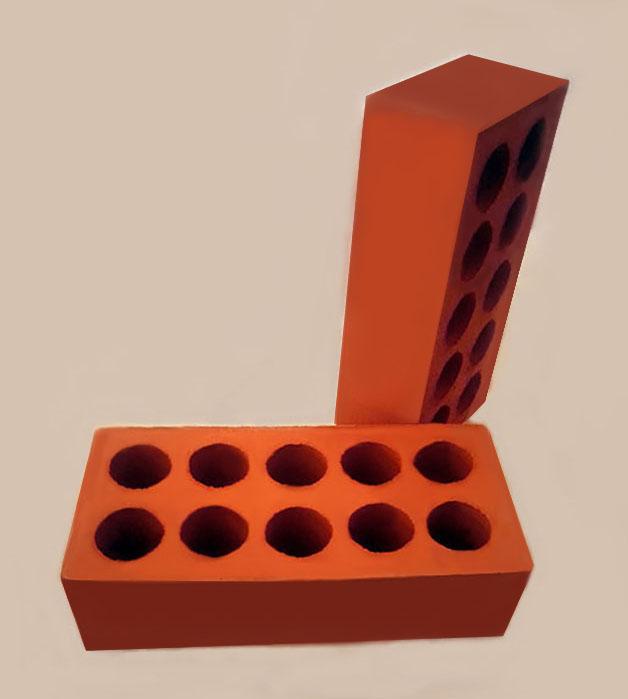 10 Holes Red Facing Brick